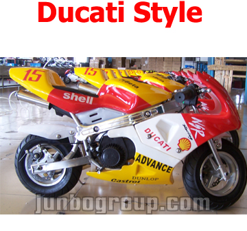 Pocket Bike With 49cc Pull Start Engine Ducati Style Sticker
