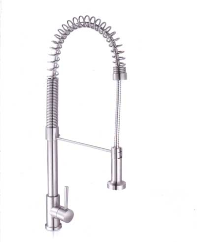 Aolijie Sanitary Stainless Steel Kitchen Faucet Sink Taps With Shower Head  (2202)