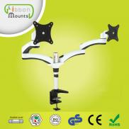 GB-DE124D Dual Metal Stand For  Lcd  Led Tv  Monit Manufacturer