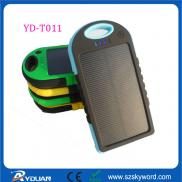 Dustproof  Solar  Cell Phone Charger , 5000mAh Li- Manufacturer