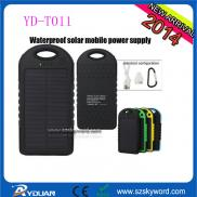 Waterproof  Solar  Laptop Charger , 5000mAh Li-pol Manufacturer