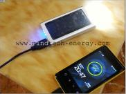 Solar  Charger Usb For Mobile With  Torch  1950mA Manufacturer