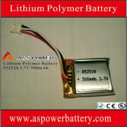 3.7V 500mAh 852528 Rechargeable  Lithium Polymer B Manufacturer