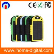 2014 Hot Selling  Solar Charger Power  Bank 5000ma Manufacturer