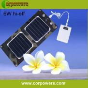 6w Foldable  Solar Powered Charger  For Mobile,cam Manufacturer