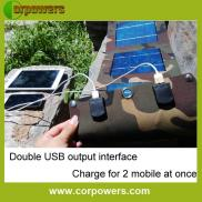 Dual Output Cheap  Solar Mobile  Phone  Charger  Manufacturer