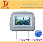 7 Inch  Car  Headrest Dvd  Lcd Monitor  With 2 Vid Manufacturer