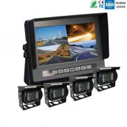 7 Inch Vehicle  Monitor  With 4 Cameras System Rec Manufacturer