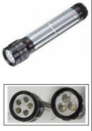 Aluminum Alloy Hi Power Highlight  Solar Flashligh Manufacturer