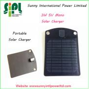 Black Color Compact  Solar Chargers  Russia Emerge Manufacturer