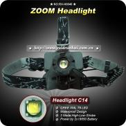Goldrunhui RH-H0040 Zoom Head Lamp CREE Waterproof Manufacturer