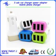 For Iphone6 Three 3 Usb 1A 2A  Car Charger  Power  Manufacturer