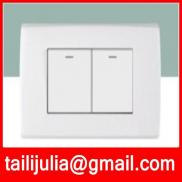 2 Gang 1 Way ,2 Gang 2 Way Wall Switch.we Are Fact Manufacturer