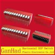 12Pin Red  DIP Switchs /Horizontal 12Pin 2.54 Pin  Manufacturer