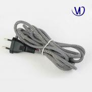 Colored Textile  Power Cord  Cable Manufacturer