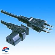 3 Poles  Power Cord  Types With Right Angle Female Manufacturer