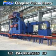 H Beam Roller Conveyor Shot Steel Cutting Blasting Manufacturer