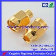 SMA Male Solder  Coaxial  Connector For RG402 Semi Manufacturer