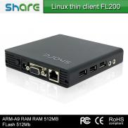 Latest Design Thinclient Fl200 Dual Core 1GHz,ARM  Manufacturer