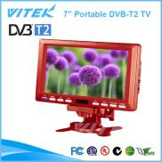 China Supplier 7inch 12V DVB-T2 Portable Satellite Manufacturer