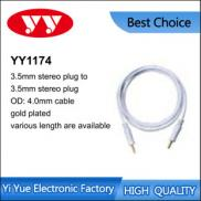 3.5mm Stereo Plug To 3.5mm Stereo Plug Cable Gold  Manufacturer