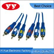 3RCA Plugs To 3RCA Plugs A/V Interconect Cable Manufacturer