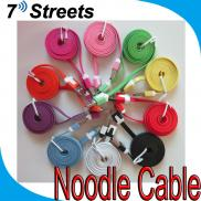 For Samsung S4 Micro USB Sync  Data Cable  Noodle  Manufacturer