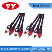 Moulded 4RCA Plugs To 4RCA Plugs Audio Interconnec Manufacturer