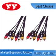 Moulded 6RCA Plugs To 6RCA Plugs A/V Interconnect  Manufacturer