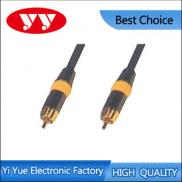 RCA Plug To RCA Plug Assembly Type Matal Shell,vid Manufacturer