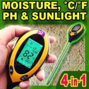 4 In 1 PH Temperature  Moisture  Light  Meter  Soi Manufacturer