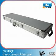 Aluminum Long Gun Case With Wheels And Handle On T Manufacturer