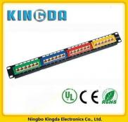 Colorcoded 24 Port Cat 5e 45 Degree Patch Panel Manufacturer