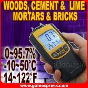 Moisture  & Temperature  Meter  Wood Cement Brick Manufacturer