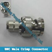 BNC Male RF  Connector  Straight  Plug  Crimp For  Manufacturer