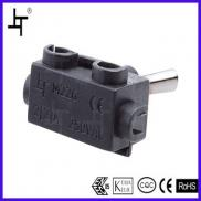Black 2A 250VAC Stop Type Toggle Switch With Metal Manufacturer