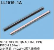 Manufacturer SIP IC SOCKET(MACHINE PIN) PITCH 2.54 Manufacturer