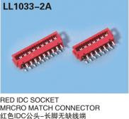 RED IDC SOCKET MRCRO MATCH CONNECTOR Dip Type Manufacturer