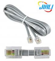 RJ11 6P4C Straight Modular Flat Telephone Cable Manufacturer