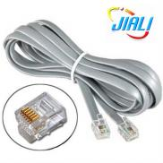 RJ12 6P6C Straight Modular Flat Telephone Cable Manufacturer