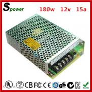 180w 12V 15A Led Power Supply 12volt With High Cos Manufacturer