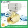 "1 1/4"" inch DN32 AC/DC 9-36v brass electric valve, motorized ball valve"