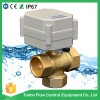 12V/24V 3 way type Brass motorized ball valve CR202 2 Wires Normally Closed