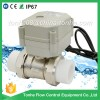 2-way brass nickel plated motorized control PP-R with actuator electric ball valve