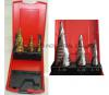 3PC Spiral Flute Step Drill Set Manufacturer