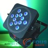 Sound Equipment / 12 10W Quad-LED Wireless Battery LED Flat Par / Par a LED
