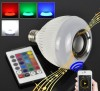 RGBW color change bluetooth led lamp with music playing