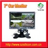 7 Inch TFT LCD Color Quad Car Monitor