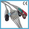 Universally ONE Piece 5-Lead Ecg Cable with Leadwi Manufacturer