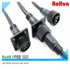 2 PIN IP68 Waterproof Panel Mount  Cable Connector Manufacturer